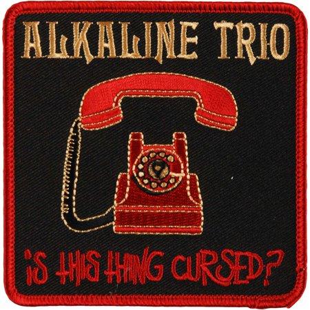 Alkaline Trio Men's Phone Patch Embroidered Patch Red Alkaline Trio Merchandise