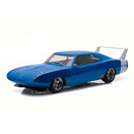 Custom 1969 Dodge Charger Daytona, Blue w/ white - Greenlight 19019 - 1/18 Scale Diecast Model Toy Car 1969 Dodge Charger Dukes Of Hazzard