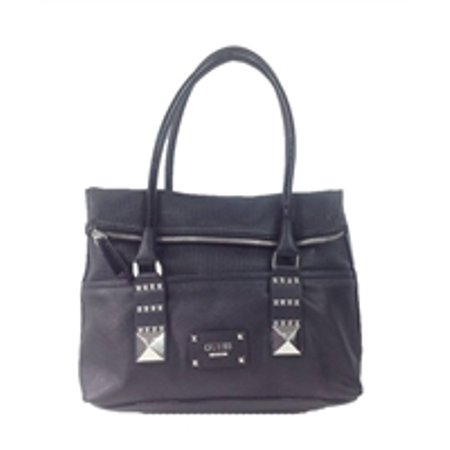 GUESS 'Rocker Geos' Perforated Fold Over Tote, Black