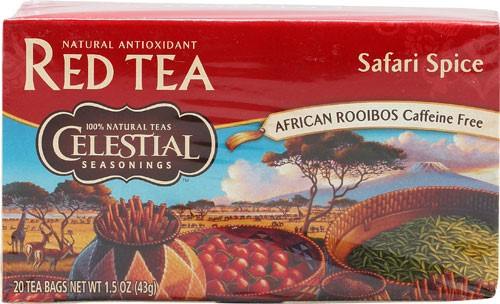 Celestial Seasonings African Rooibos Caffeine Free Tea Safari Spice 20 Tea Bags by El Mexicano