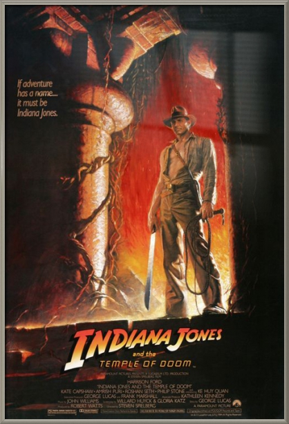 """Indiana Jones And The Temple Of Doom Movie Poster   Print (Regular Style) (Size: 27"""" x 40"""") by"""