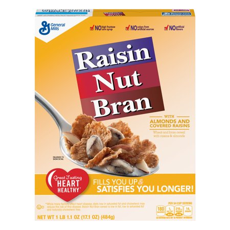 Raisin Nut Bran Breakfast Cereal, 17 1 oz Box - Walmart com