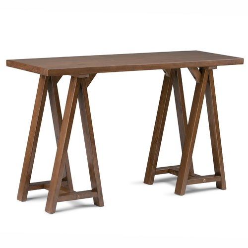 Captivating Simpli Home Sawhorse Console Sofa Table