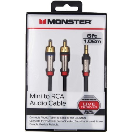 Monster® 3.5mm Mini to RCA Stereo Audio Cable