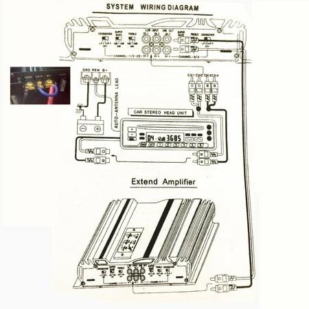 12V 3800W 4 Channel 4Ohm Car Audio Power Amplifier Powerful ... on