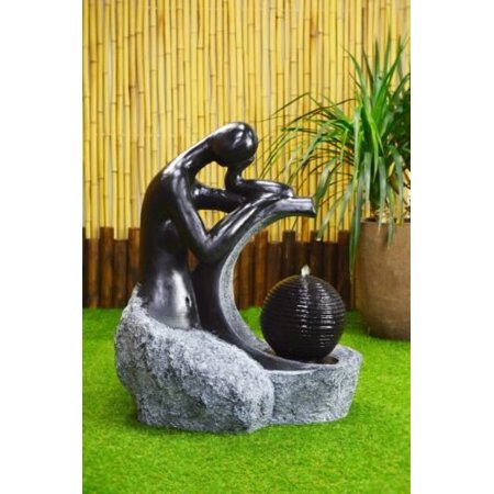 - ASC Granite Lady & Ball Fountain with Solar Water Pump Kit