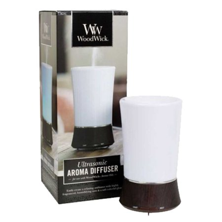 WoodWick Ultrasonic Aroma Diffuser, Cool Mist Humidifier With Six Color Change (Aroma Essence 2 In 1 Car Diffuser)