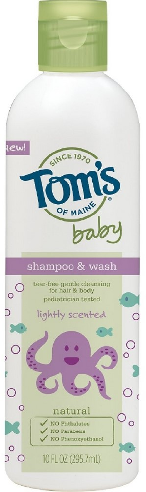 Tom's of Maine Baby Shampoo & Wash, Lightly Scented 10 oz (Pack of 6) by Tom%27s of Maine