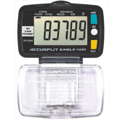 Accusplit AE1640M4-XBX Eagle Step and Distance Pedometer