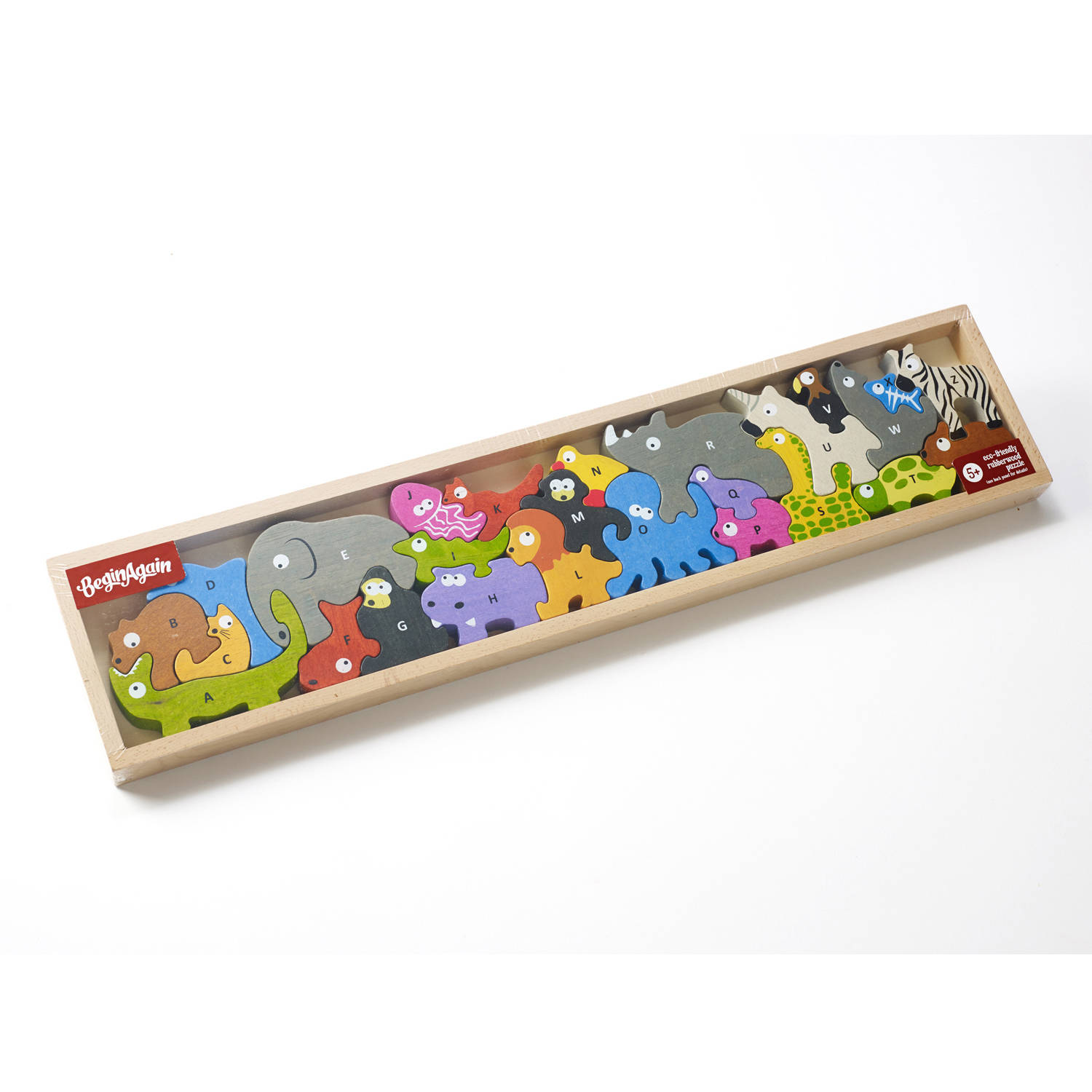 BeginAgain Toys Animal Parade A to Z Wooden Puzzle by BeginAgain Toys