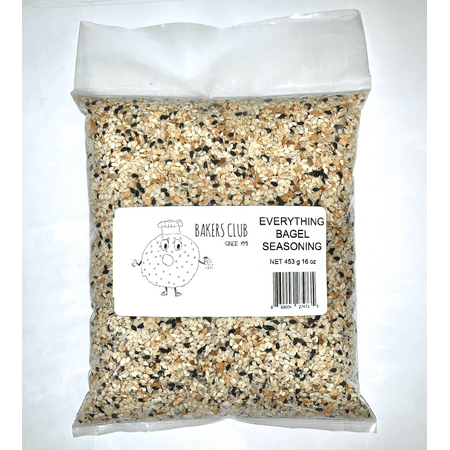 Everything but the bagel sesame seed seasoning 12oz by Bakers Club This seasoning brings back the notes of everything bagels, a favorite of every deli across America; This seasoning tastes great on bagels, but can also be used to season your bread, eggs, hummus, pretzels, and even more! Give us a try and leave a review:)