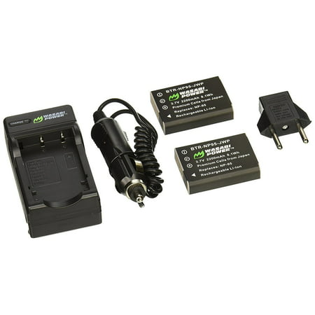 Wasabi Power Battery (2-Pack) and Charger for Fujifilm NP-95 and Fuji FinePix - Walmart.com