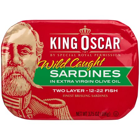 King Oscar In Olive Oil Two Layer Sardines  3 75 Oz