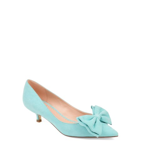 Lime Green Pumps - Womens Pointed Toe Bow Pump