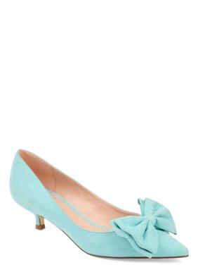 Womens Pointed Toe Bow Pump