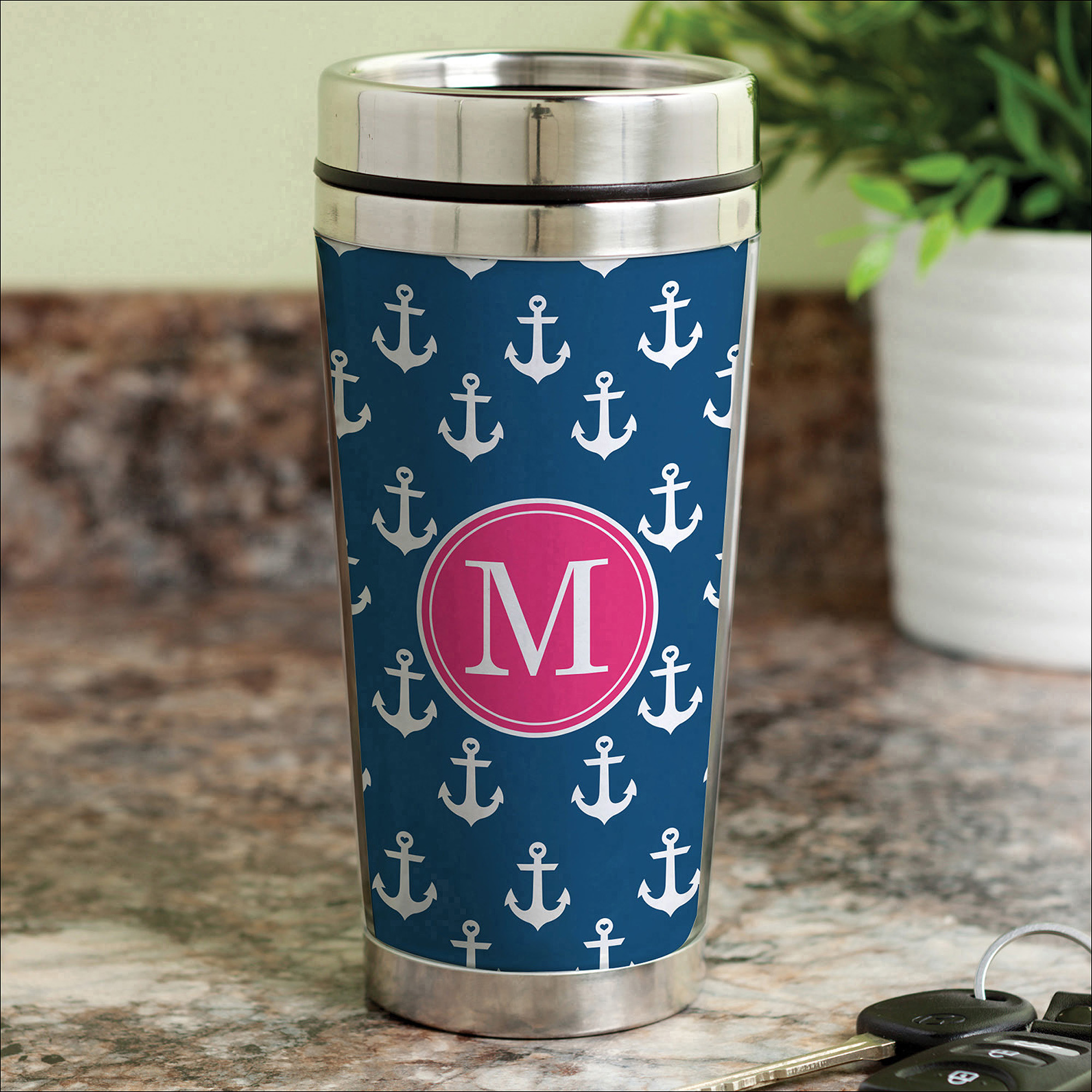 Anchors Away Personalized Coffee Travel Mug