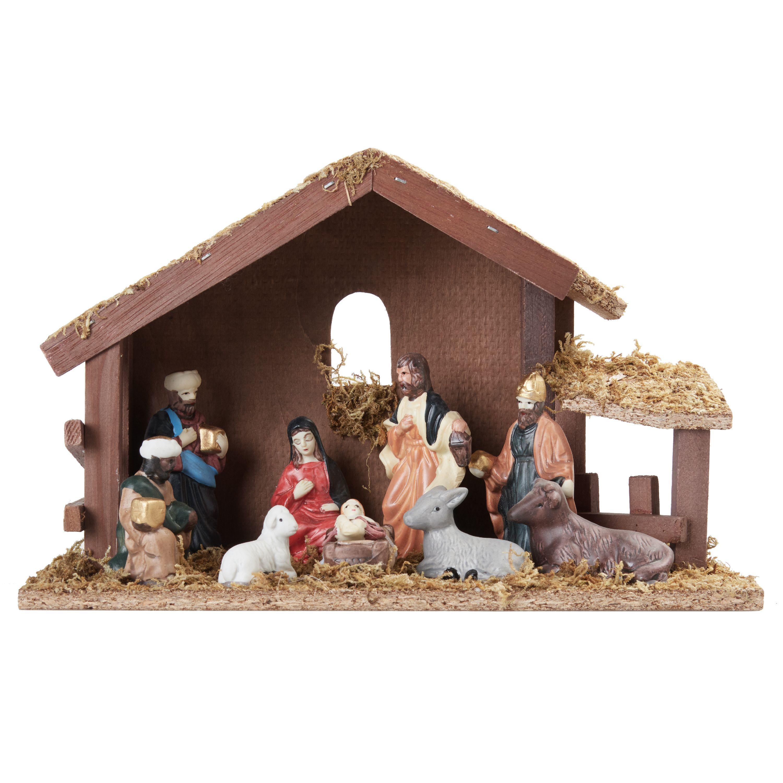 Holiday Time Nativity Set, 11 pcs
