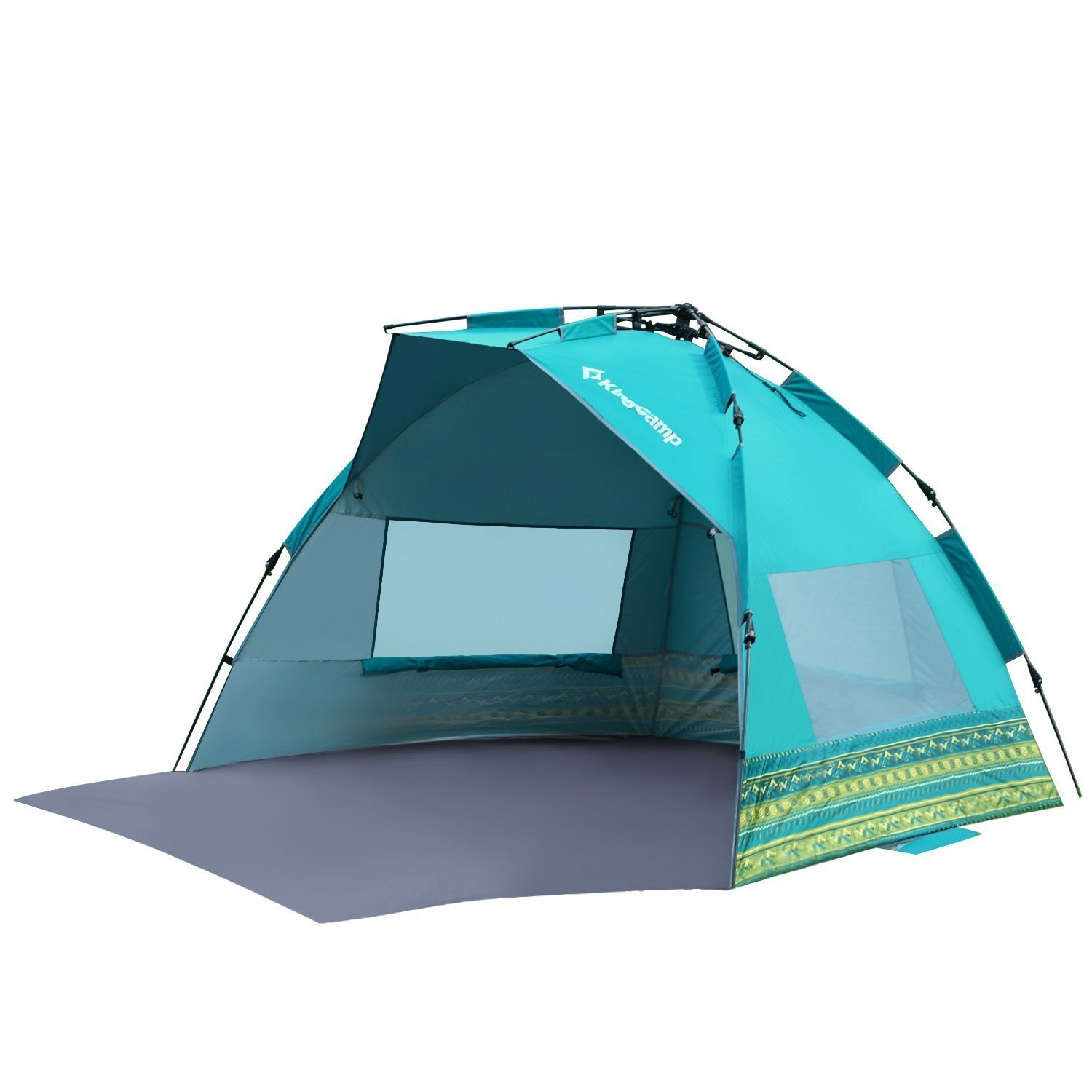 KingC& Beach Tent Sun Shade Shelter Oversize With Extention Floor Privacy Door Semi-closed Structure Portable Easy Set Up Instant UV Protection - Walmart. ...  sc 1 st  Walmart & KingCamp Beach Tent Sun Shade Shelter Oversize With Extention Floor ...