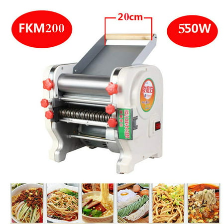 Width Machine (AC 220V Home Stainless Electric Automatic Pasta Machine Noodle Pasta Maker Chopped Noodles Maker Machine Pressing Machine - Width 200mm )
