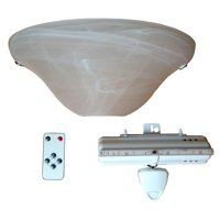 Frosted Marble Glass Half Moon Sconce