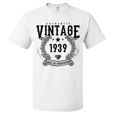 80th Birthday Gift For 80 Year Old 1939 Aged To Perfection T Shirt