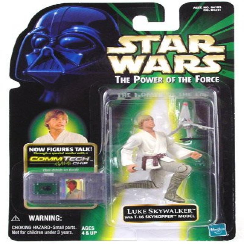 Star Wars: Power of the Force CommTech Luke Skywalker Action Figure by Hasbro by Kenner