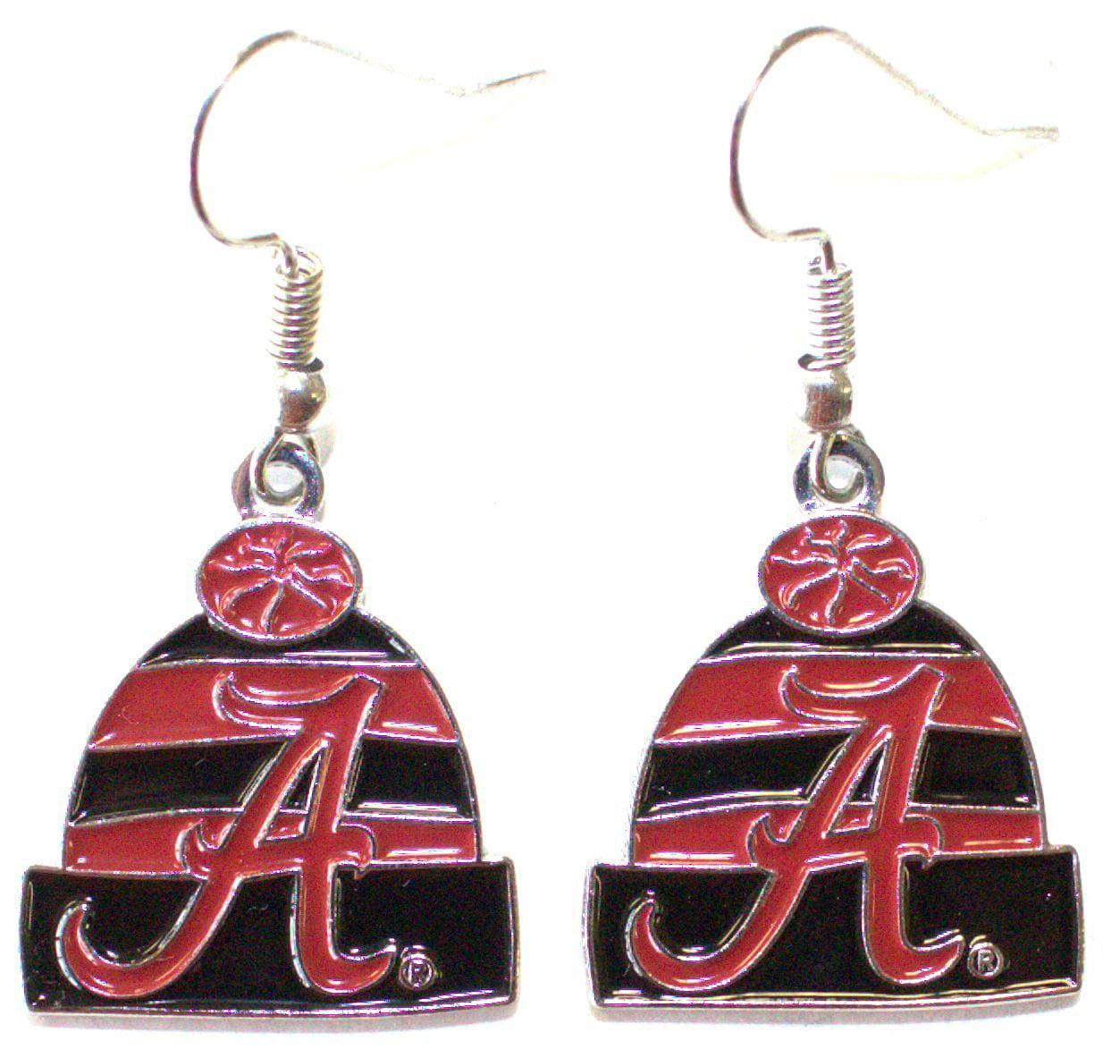 NCAA Officially Licensed Alabama Crimson Tide Beanie Style Dangle Earrings