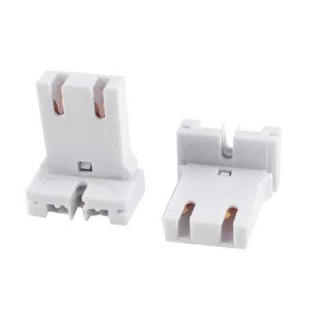 2pcs T12 T8 Fluorescent Tube Lamp Light Sockets Holder White