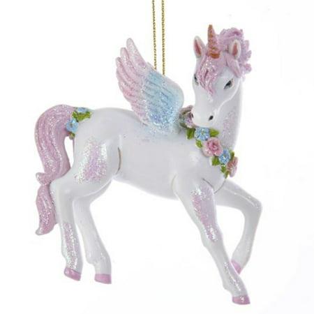 Glittered Unicorn Ornament