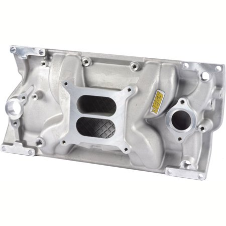 JEGS 513002 Intake Manifold Small Block Chevy with 1996-Up Vortec L31 Cast Iron (Intake Manifold Clamp)