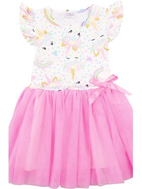 15c7842dcdb Free shipping. Product Image Little Girl Dress Kids Cap Sleeve Unicorn Mesh  Summer Flower Girl Dress Pink 2T XS (