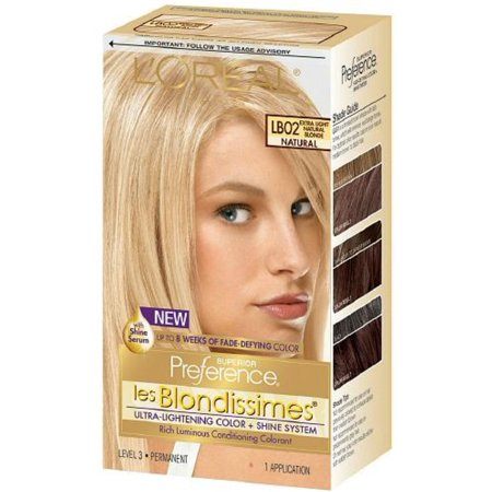 L'Oreal Superior Preference Les Blondissimes, LB02 Extra Light Natural Blonde (Natural) 1 ea (Pack of