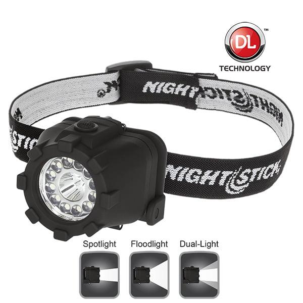 Nightstick NSP-4604B Dual-Light Headlamp, Black