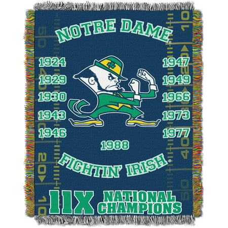 "NCAA 48"" x 60"" Commemorative Series Tapestry Throw, Notre Dame"