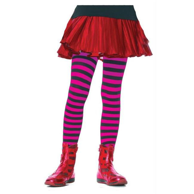 Costumes For All Occasions Ua4710Bprlg Tights Chld Striped Bk/Pr 7-10