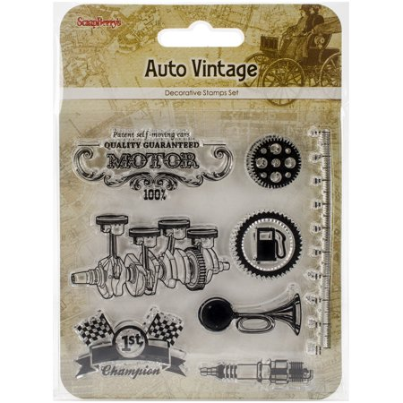Vintage Stamping Setting - ScrapBerry's Clear Stamps 4