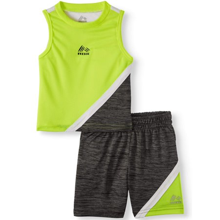 RBX Colorblock Mesh Performance Tank & Mesh Short, 2pc Active Set (Baby Boys)