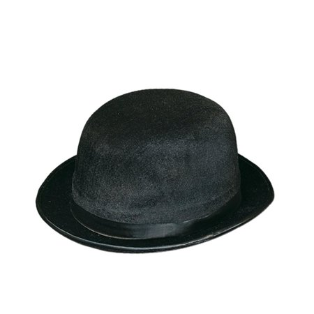 Club Pack of 12 Black Bowler/Derby Hats Halloween Costume Accessories