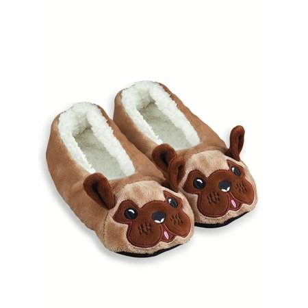 804306bd123 Collections Etc - Womens Fuzzy Animal Ballet Slippers - Walmart.com
