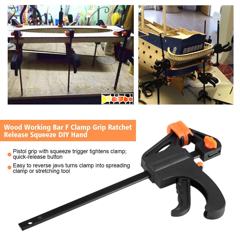 Plastic Woodworking Clip Bar F Clamp Grip Quick Ratchet Release