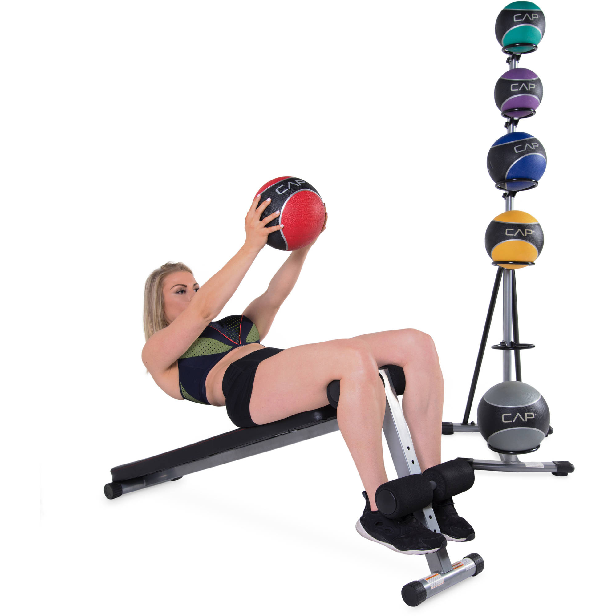 CAP Strength Slant Board with 42 lb Medicine Ball Set by Cap Barbell