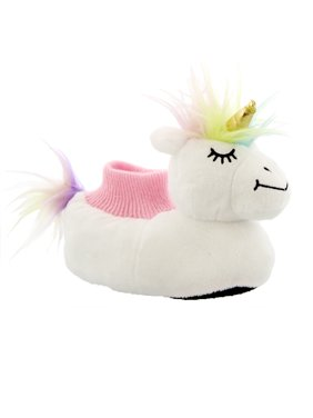 Yankee Toy Box Plush Magical Unicorn Toddler Girls Sock Top Slippers 84009