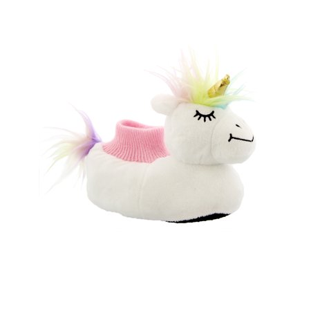 Yankee Toy Box Plush Magical Unicorn Toddler Girls Sock Top Slippers 84009