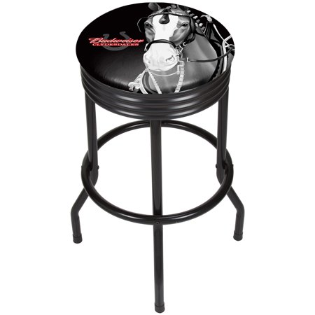Image of Budweiser Black Ribbed Bar Stool - Clydesdale Black