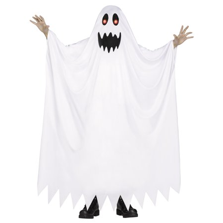 Fade In & Out Ghost Child Halloween Costume, Medium (8-10)
