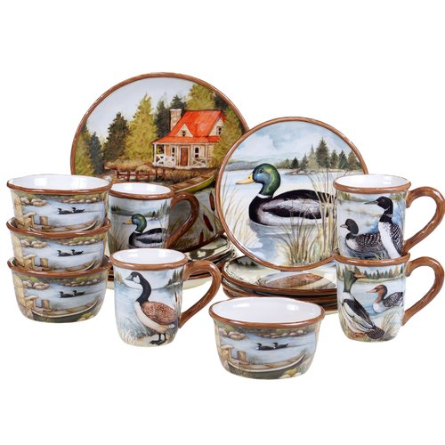 Loon Peak Mendez 16 Piece Dinnerware Set, Service for 4