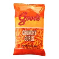 Good's Cheese Flavored Crunchy Curls, 7 Oz.