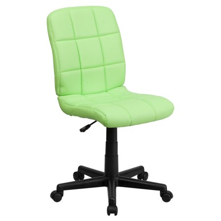 - Flash Furniture Mid-Back Quilted Vinyl Swivel Armless Task Office Chair, Multiple Colors