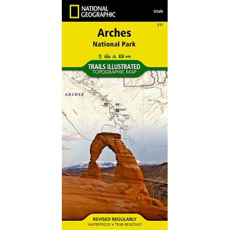National Geographic Trails Illustrated Map Arches National Park Utah ...