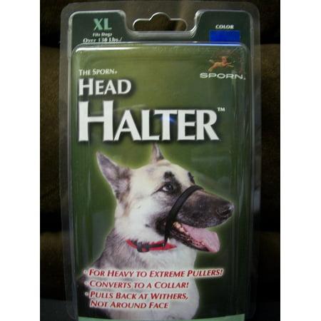 Sporn Training Halter - Sporn XL Blue Head Halter for Dogs